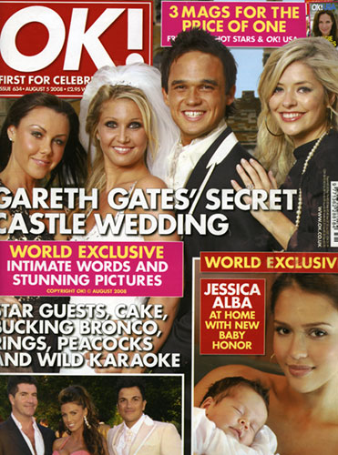 Gareth Gates wedding in OK Magazine